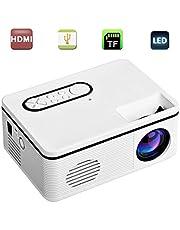 Projectoren, Audio Video Conference LED 1080P HD Theater Van Het Huis Mini Projector Met USB VGA HDMI,White