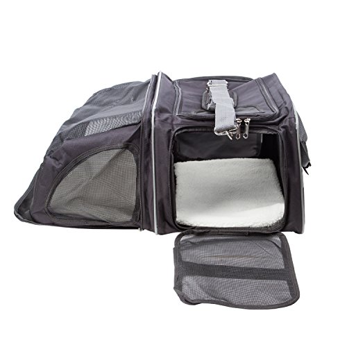 Pettom Expandable Foldable Soft-sided Travel Carrier for Dog