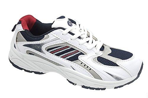 Mens DEK White Blue Red Running Gym Sports Casual Trainers Sizes 7 8 9 10 11 12 13 BjpsNO