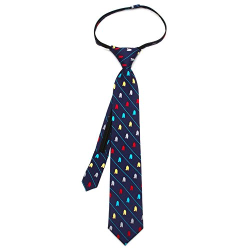 - Ox & Bull 100% Silk Blue Star Wars R2D2 Boys Zipper Pre-Tied Necktie Tie Neckwear