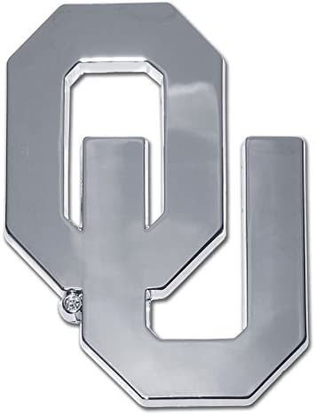 University of Oklahoma Chrome Metal Car Emblem