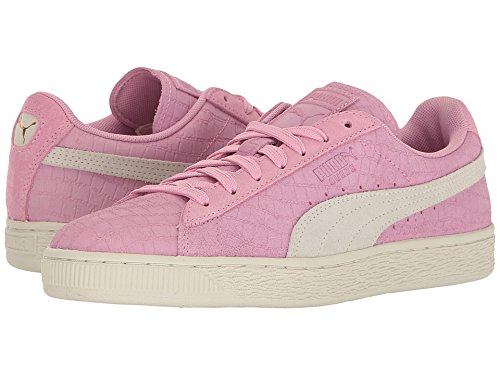 PUMA Women's Suede Classic Croc Emboss WN's Fashion Sneaker, Prism Pink White, 9.5 M US Review