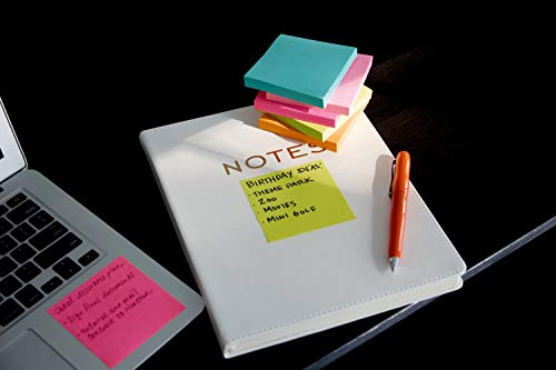 Post-it Super Sticky Notes, Bright Neons, Sticks and Resticks, Great for Reminders, 3 in. x 3 in, 68 Pads/Pack, (654-24SSMIA-CP) (68 Pads) by Post-it (Image #4)