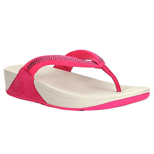 FitFlop Womens Crystal Swirl Bubblegum Textile Sandals 36 EU