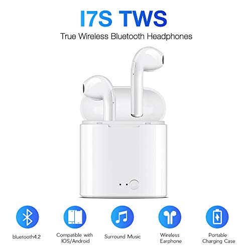 Bluetooth Headphones, Wireless Headphones【MagnetiBluetooth Earbuds, APHONE Mini Wireless Headphones with Light Charging Case Car Headset Compatible iPhone 6 7 8 Plus X/iPad Samsung Android/Smartphon