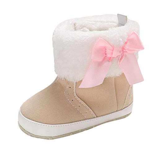 Unisex Cute Bow Toddler Kids Booties Boy Girl Winter Soft Sole Anit-Slip Shoes ()