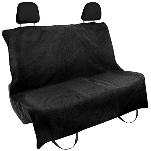 Car Towel Bench Seat Cover Black Anti-slip for Truck SUV Pet