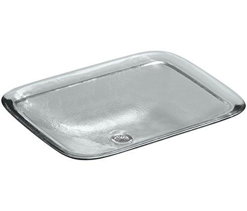 KOHLER K-2773-B11 Inia Wading Pool Glass Rectangular Vessel Bathroom Sink, Ice - Kohler Wading Pool