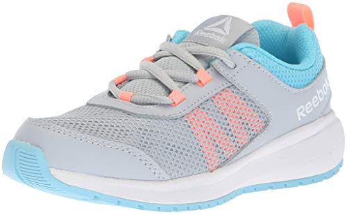 Reebok Unisex-Kids Road Supreme Sneaker,Cloud Grey/Digital Blue/d,11 M US Little Kid (Trainers Childrens Girls)
