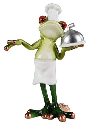 StealStreet Standing Frog What's for Dinner Chef Decorative Figurine - Kitchen Frog