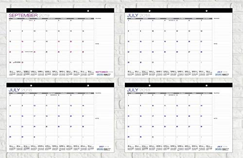 Desk Calendar 2018-2019: 11''x17'' - (Runs from July 2018 Through December 2019) (1 Pack) by Global Printed Products (Image #7)