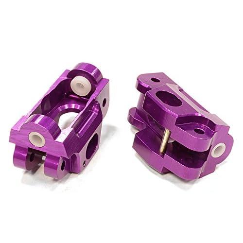 Integy RC Model Hop-ups T5030PURPLE Billet Machined Caster Blocks for HPI 1/12 Savage XS Flux