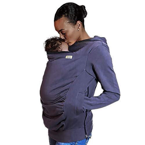 Boba Hoodie, Grey Large Baby Carrier Cover Hooded Sweatshirt