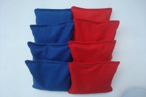 Tournament Cornhole Bags - Set of 8 Royal Blue and (Tournament Bag)