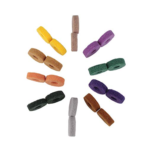 Juego de accesorios para herramientas precisas Kit de percusi/ón 20 piezas Kit de tambor Percusi/ón colorida percusi/ón de efecto de protecci/ón de almohadilla de platillo