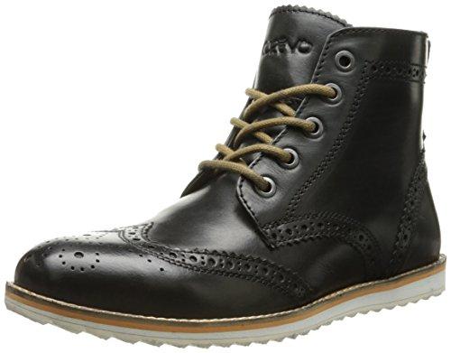 (Crevo Men's Boardwalk Wing Tip Boot, Black Leather, 11 M US)