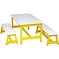 AmazonBasics Indoor Kids Table and Bench Set