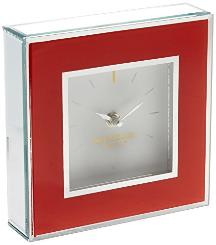 Isaac Mizrahi The Jay Companies Square Clock, Orange ()