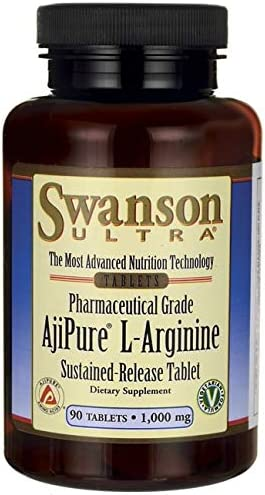 Swanson Amino Acid Ajipure L-Arginine Sustained-Release Tablet 1000 Milligrams 90 Tabs
