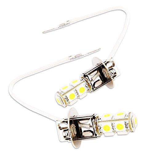 Zone Tech Generic LED-9-H3: LED 9 SMDs H3 6000K (Xenon White) Light Bulbs -One Pair