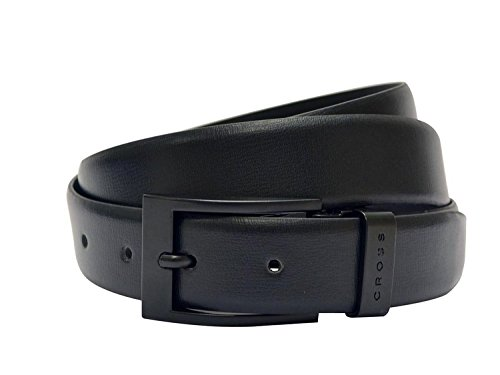 CROSS Men's Genuine Leather Belt Lugo Cut-to-Fit Style. 30mm Pronged Buckle XXL Size - Black - AC338155N_XXL (Black Seat Covers For Cars Nylon compare prices)