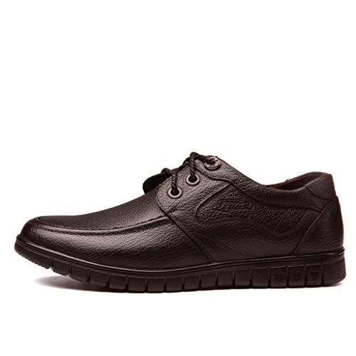 QBQCBB Men's Fashion Summer British Business Shoes Casual Comfortable Dress Shoes(Brown,43) ()