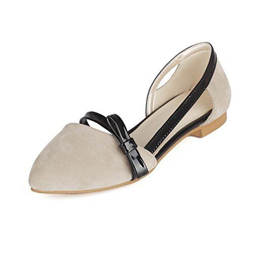 Mujer y apricot con Zapatos Verano Planos Primavera Bolsa Helado Señaló nuevos de Ocasionales pie ZHZNVX Mujer del Sandalias Zapatos Dedo de ZS4BqnBWx