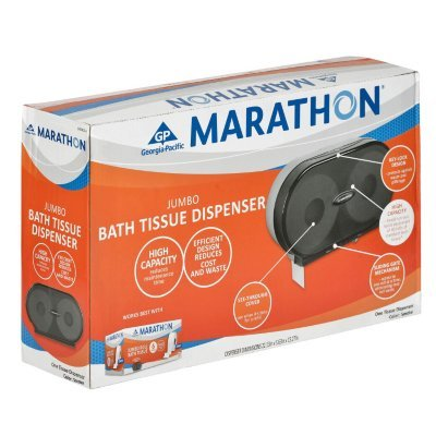 Marathon Jumbo Double Roll Toilet Paper Dispenser