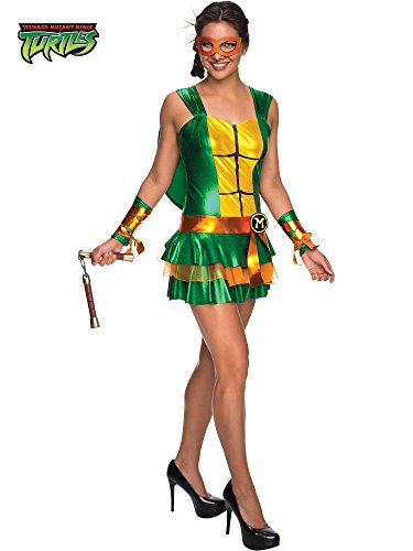 Secret Wishes Women's Teenage Mutant Ninja Turtles Michelangelo Costume Dress, Multi, Small