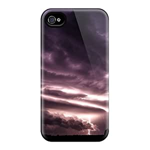 Protective Tpu Case With Fashion Design For Iphone 4/4s (thunder Storm)