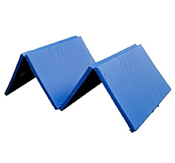 HOMCOM Colchoneta Plegable 122x305cm Maleta 4 Pliegues Fitness Gimnasia Yoga Pilates