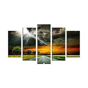 Landscape & Nature Print Painting 5 Pieces Set By Bonamaison