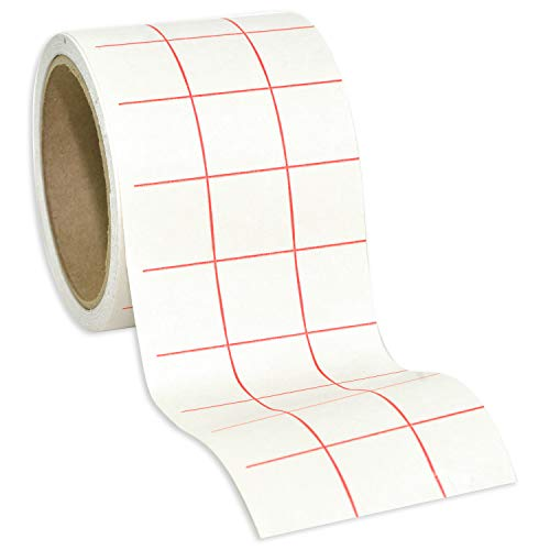 Angel Crafts Transfer Paper Tape: Craft Transfer Tape for Vinyl Application with Red Grid Lines - Self Adhesive Transfer Paper Roll Compatible with Cricut, Silhouette Cameo - 3 Inch by 25 Feet, White