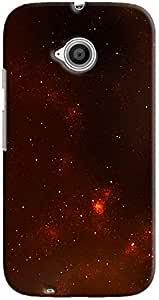 Cover It Up - Red Star Cluster Motorola Moto E2 Hard Case