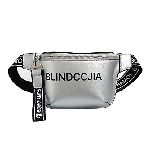 Lanhui Personality Ladies Bright Leather Letter Diagonal Cross Bag Shoulder Bag, Exquisite Chest Bags