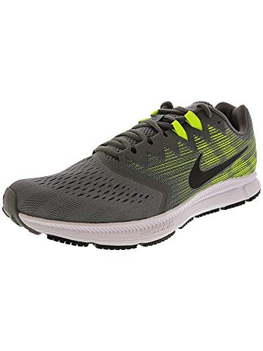 NIKE Men's Air Zoom Span 2 Running Shoes (11.5, Grey/Black/Volt) 2 Zoom Air Shoes