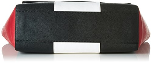 Armani 922562CC857, Borsa con Maniglia Donna, 11x27x32 cm (B x H x T) Multicolore (Nerro/Bianco/Geranio 45420)