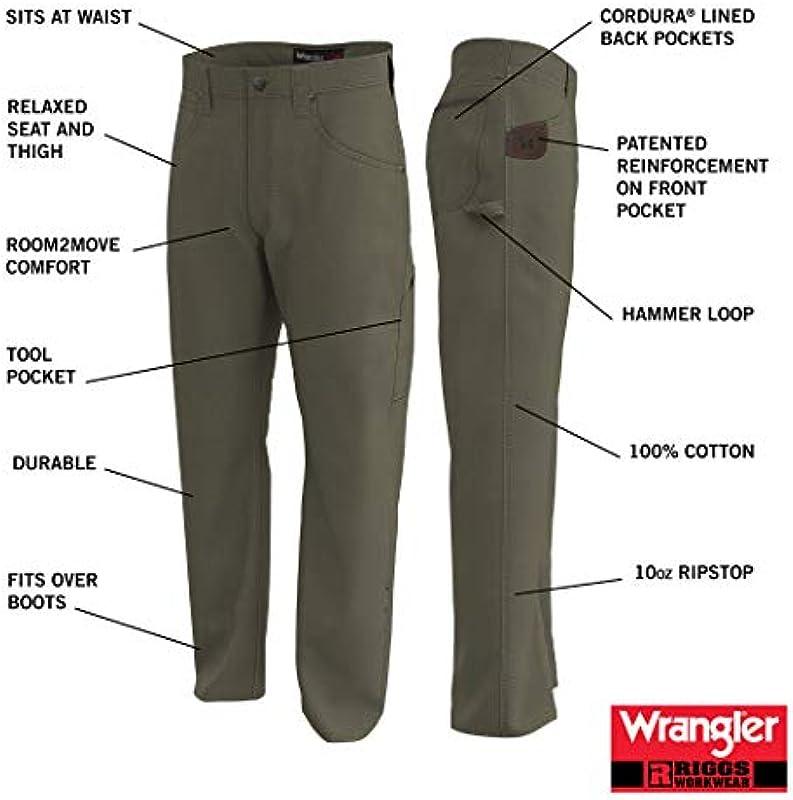 Wrangler Riggs Workwear męskie dżinsy stolarskie: Odzież