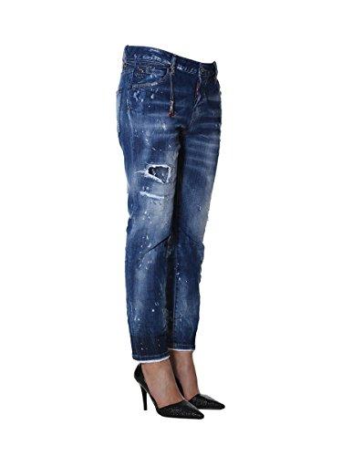 Bleu S72LB0073S30342470 Jeans Femme Dsquared2 Coton v0zCCq