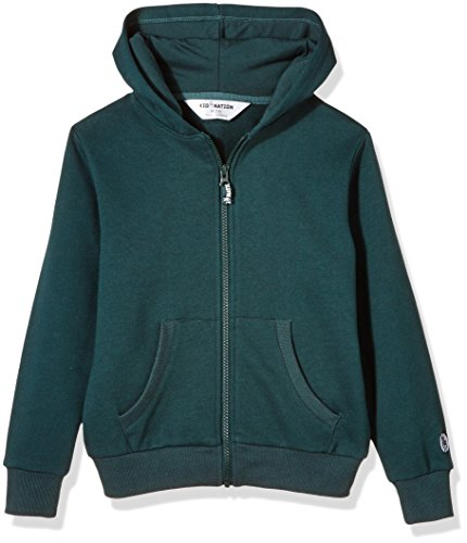 Big Boys Adult Sweatshirt - Kid Nation Kids' Brushed Fleece Zip-up Hooded Sweatshirt for Boys Or Girls Small Evergreen