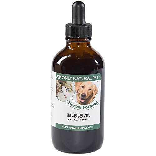 (Only Natural Pet B.S.S.T. - Herbal Supplement Formula to Support Immune System - 4 fl oz Bottle with Dropper)