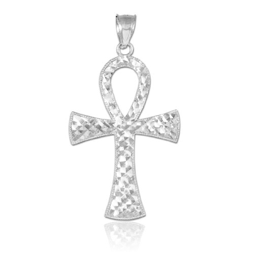 - 925 Sterling Silver Egyptian Ankh Cross Charm Pendant