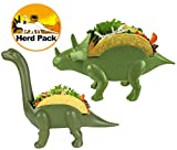 Herd Pack Grubkeepers by Penko (Pack of 2) Dinosaur Taco Holder Ultrasaurus and Triceratops (Each holds 2 tacos) 4 Tacos Birthdays Lunch Dinner (For adults and kids alike) Taco Party