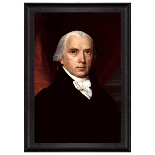 Portrait of James Madison by John Vanderlyn (4th President of the United States) American Presidents Series Framed Art Print