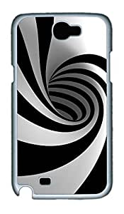 Samsung Note 2 Case Black and White Swirl PC Custom Samsung Note 2 Case Cover White