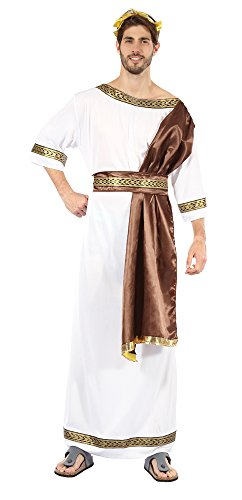 [Men's Greek God With Brown Sash Costume] (Ancient Costume Ideas)