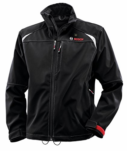 Bosch PSJ120M-102 Men's 12-volt Max Lithium-Ion Soft Shell Heated Jacket Kit with 2.0Ah Battery, Charger and Holster