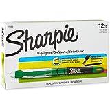 Sharpie 1754468 Accent Liquid Pen-Style Highlighter, Fluorescent Green, 12-Pack