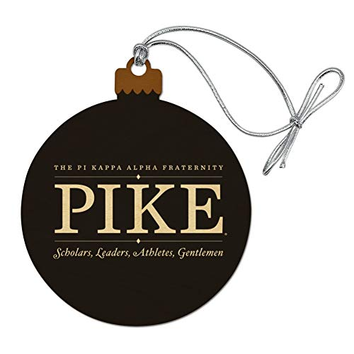 GRAPHICS & MORE Pi Kappa Alpha Pike Fraternity Lockup Reverse Wood Christmas Tree Holiday Ornament
