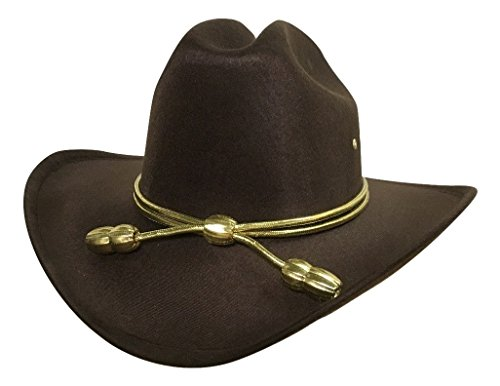 Child Boys Carl King County Sheriff Hat Brown Cowboy Zombie -